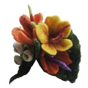 Broszka jesienny bukiecik  - broszka filcowana