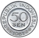 Indonezja - moneta - 50 Sen 1961 - RZADKA !