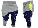Spodnie dresowe szare granat limonka PIORUNY 104