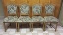 Komplet 4 masywnych krzeseł dębowych