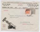 Brazylia - ciekawa koperta firmowa z ok. 1950 r.