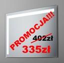 LUSTRO ŁAZIENKOWE CORNER 53x63cm oświetlenie LED