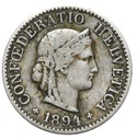 Szwajcaraia - moneta - 5 Rappen 1894 - 2 - RZADKA