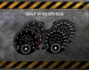 TARCZE LICZNIKA - GOLF VI GTI EOS zamiennik UK/USA