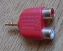 Adapter wtyk Jack 3.5 na 2x RCA chinch
