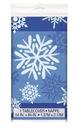 Obrus foliowy świąteczny niebieski gwiazdki