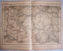 CZECHOSŁOWACJA. PILSEN, PRAGA. Mapa kolejowa.