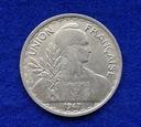 Indochiny 1 Piastre 1947 r.  392/12