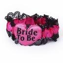 Podwiązka BRIDE TO BE Oblubienicą być WIECZÓR róż