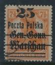 Niemcy nadruk Gen.Gouv.Warschau Poczta Polska 25