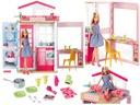 OUTLET Barbie DOMEK DLA LALEK Składany + LALKA