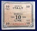 Włochy 10 Lire 1943 r. Wojska Alianckie 270/12