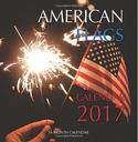 David Mann American Flags Mini Wall Calendar 2017