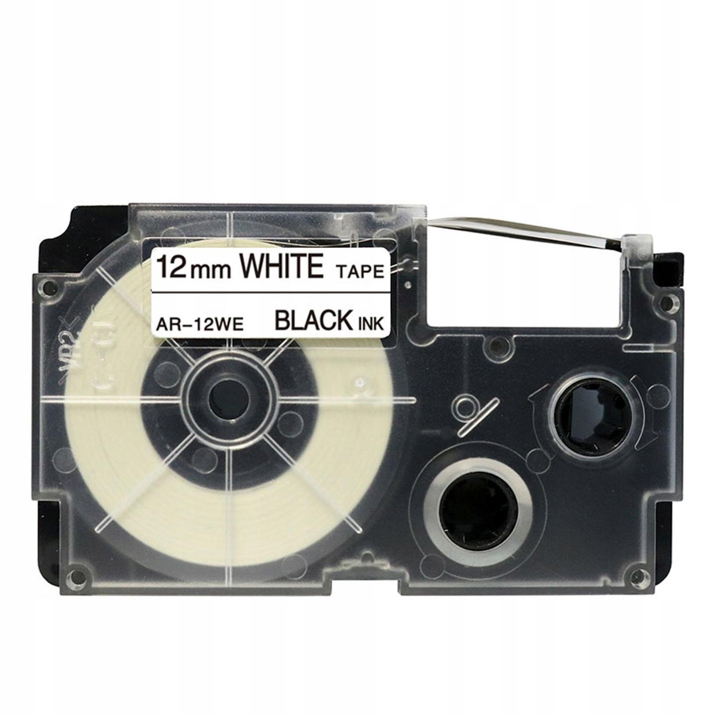 3x SCHRIFTBAND KASSETTE 12mm BLACK//WHITE PLASTIC für DYMO LetraTag XR