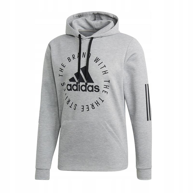 Bluza męska z kapturem Sport ID Jersey Adidas (szaro czarna