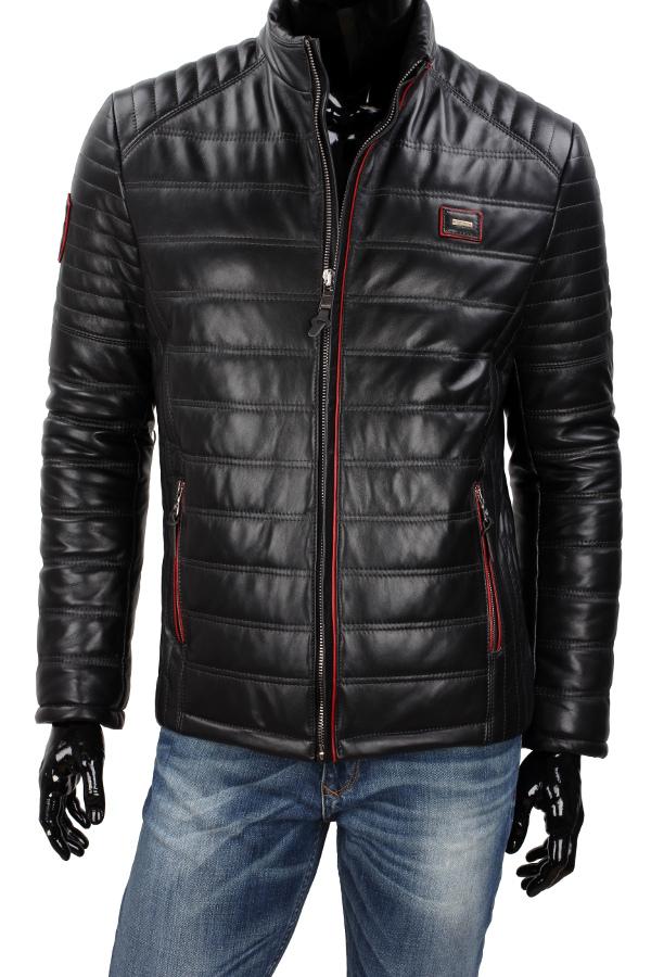 785bf9ad330d4 Model NIK450 to lekka, wyjątkowa skórzana kurtka w klasycznym czarnym  kolorze. Pikowana technologią Thermo Fleece, która zapewnia doskonałą  izolację ...