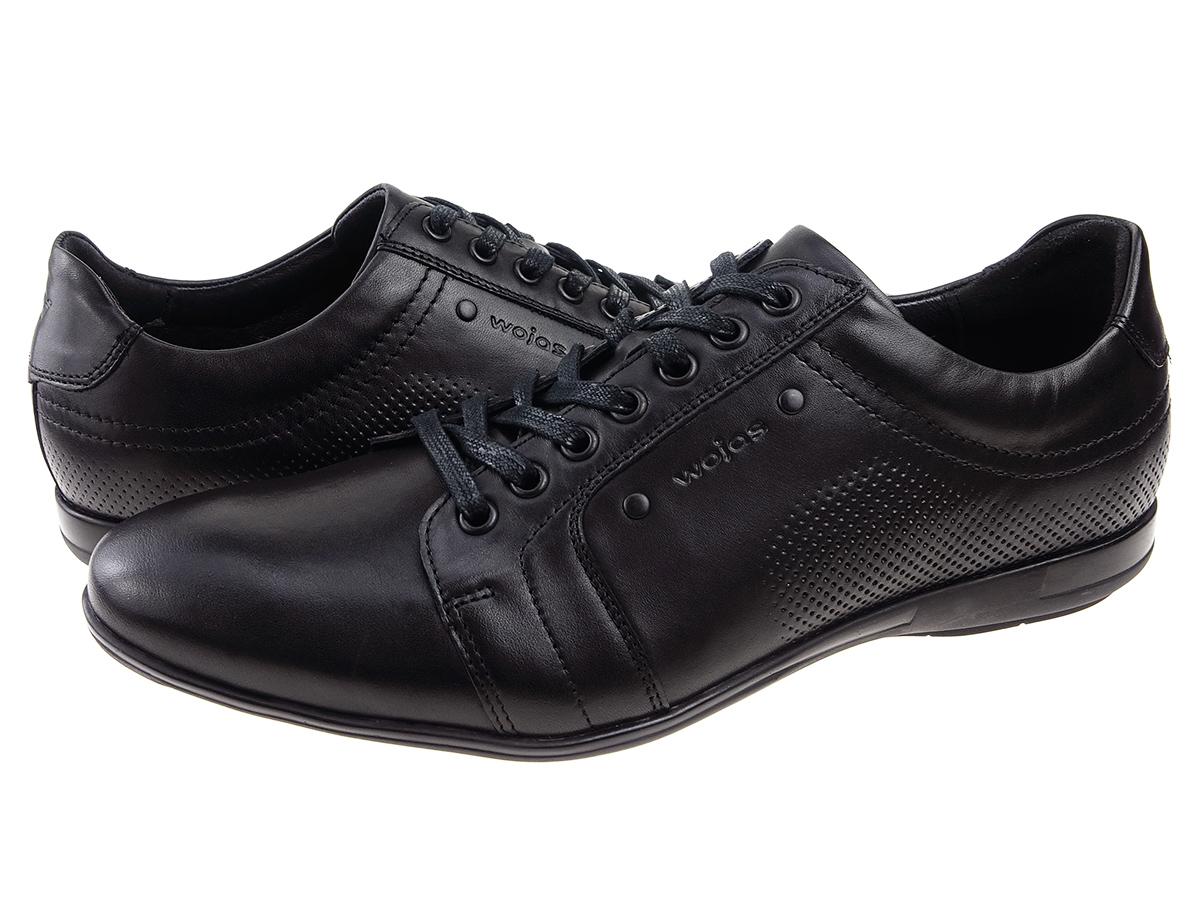5f492a0271cf92 Najnowsze, najmodniejsze, oryginalne buty męskie polskiej marki Wojas 7004- 51 w czarnym kolorze.