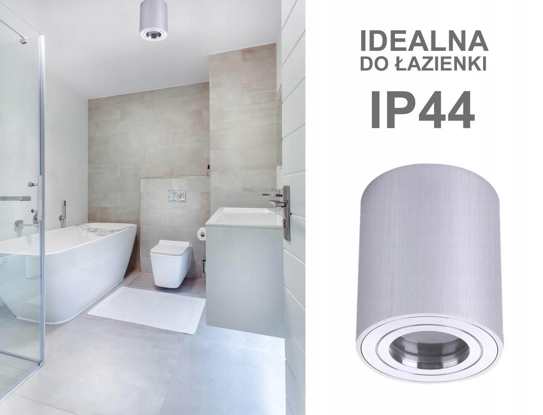 Lampa łazienkowa Plafon Tuba Wodoszczelna Ip44