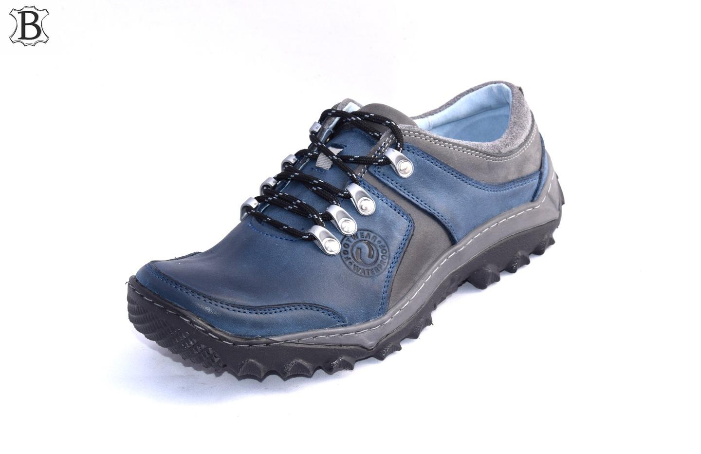Półbuty skórzane polskie niskie buty trekkingowe 278