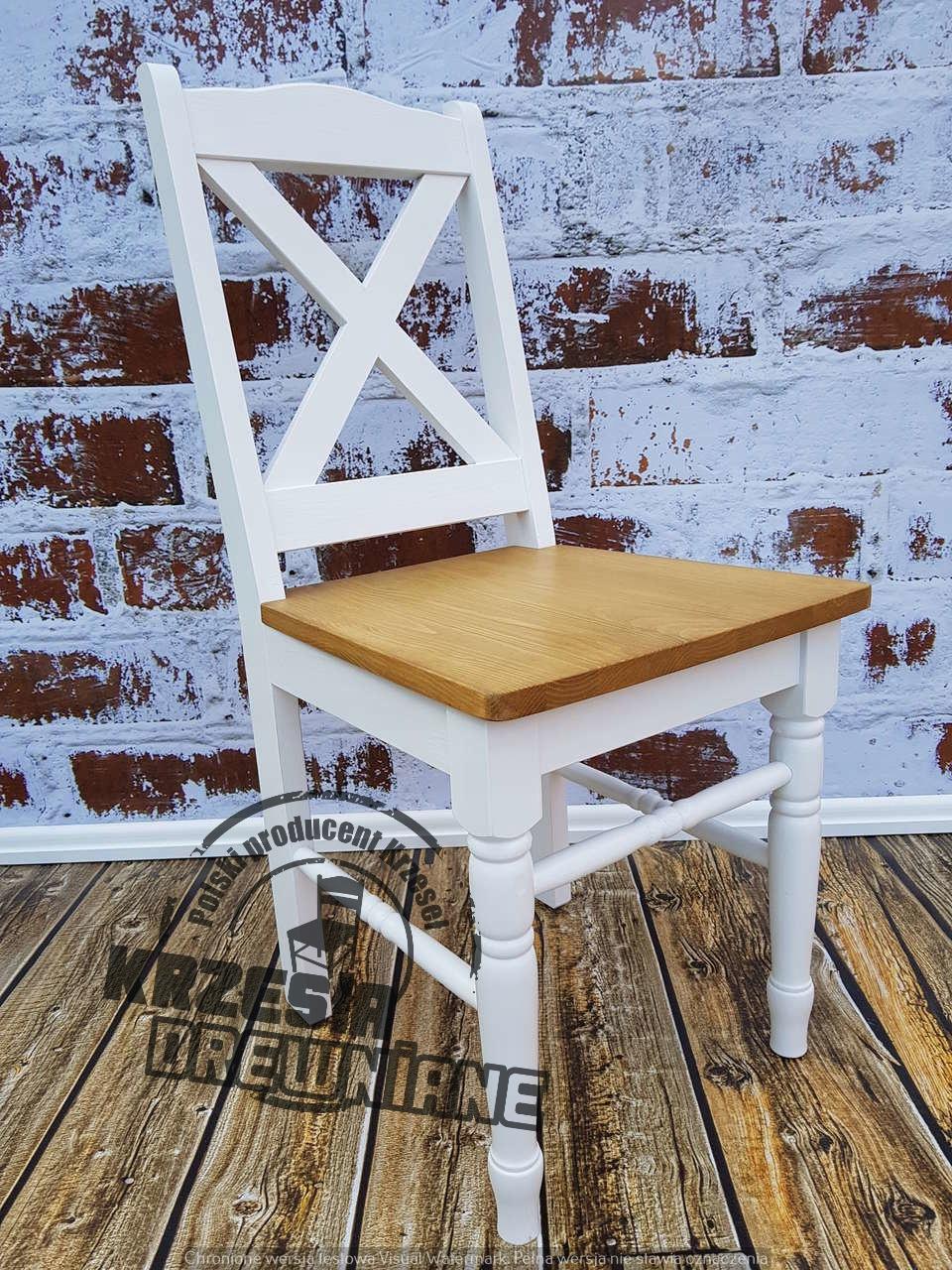 Krzesło X Drewniane Z Toczonymi Nogami Jedyne 7720729748