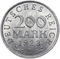 Niemcy - 200 Marek 1923 E - MENNICZA Z ROLKI