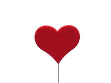 УКРАШЕНИЕ флористика оптовиков Сердце сердечко из войлока различные доставка товаров из Польши и Allegro на русском