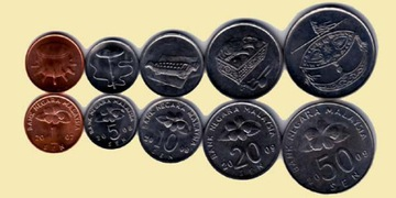 МАЛАЙЗИЯ набор из 5 монет доставка товаров из Польши и Allegro на русском