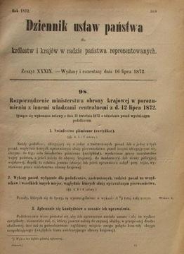 О ПРЕДОСТАВЛЕНИИ ПОСАДЕ WYSŁUŻONYM PODOFICEROM .1872 доставка товаров из Польши и Allegro на русском