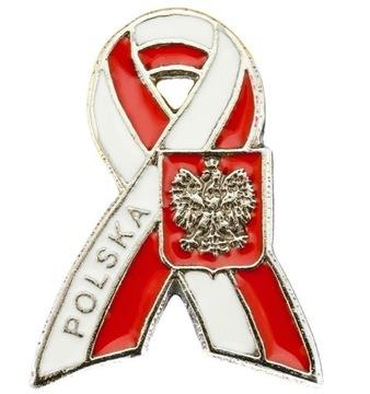 Застежка бело-красный лук котильон Орел RP доставка товаров из Польши и Allegro на русском
