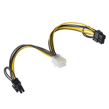 (Адаптер питания, графики PCI-E 6PIN - 2x 8PIN) доставка товаров из Польши и Allegro на русском