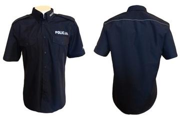 Рубашка полиция Мужская - короткий рукав размеры доставка товаров из Польши и Allegro на русском