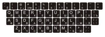 Наклейки на клавиатуру QWERTY + КИРИЛЛИЦА 13x13 мм доставка товаров из Польши и Allegro на русском