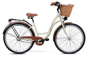 Damski rower miejski GOETZE 28 3biegi kosz gratis