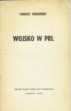 PODGRSKI ARMY in PRL / London CK PPS 1976  доставка товаров из Польши и Allegro на русском