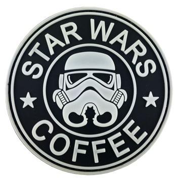 STAR WARS COFFEE моральный Дух Патч 3D-ПВХ белый горит доставка товаров из Польши и Allegro на русском