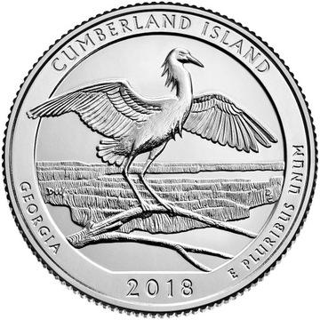 США 25 c Парк Cumberland islands 2018 № 44 доставка товаров из Польши и Allegro на русском