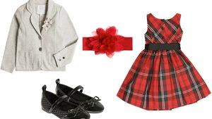 e7775d656f Eleganckie sukienki w kratkę na świąteczny obiad dla dziewczynki 5+