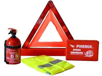 Sada hasiacich trojuholníkových vesty + súprava prvej pomoci