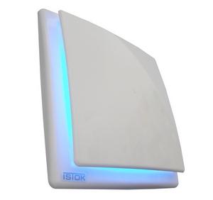 OK Modrý kúpeľňový ventilátor s LED osvetlením