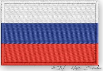 Patch - Termo Patches - Vlajka Ruska - Výšivka