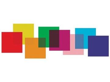 Sada farebných filmových filtrov 25cm 8 ks.