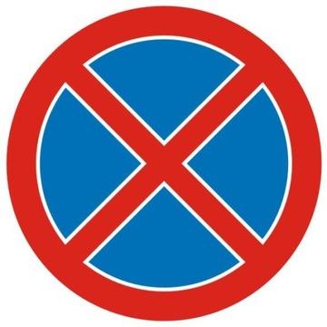 Cestné znamenie B36 zákaz zadržiavania 600 mm
