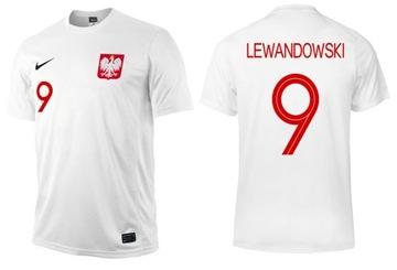 Nike Polska Lewandowski veľkosť tričko 137-147 cm