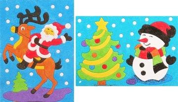 PIESKOVÉ OBRÁZKY 2x snehuliak Santa Claus