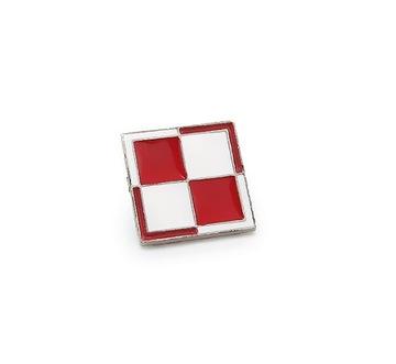 Poštová známka Činenie šachovnice biela červená