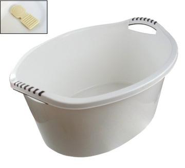 Misa Korek pin bag plastové biele umývanie 60l