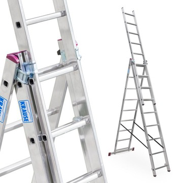 Лестница алюминиевая 3x9 KRAUSE CORDA, рабочая высота. 6,2 м