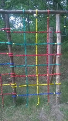 Príslušenstvo pre detské ihriska - Lezecké mriežkové ihrisko 1 x 2 m GRUBA LINA