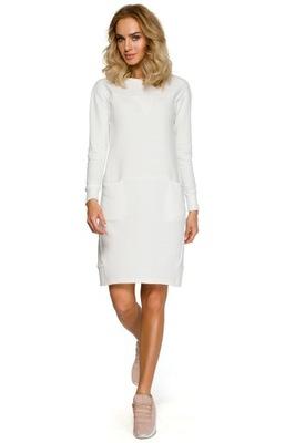 1e6a13f35f Sukienka M312 - odcienie ecru 7475260312 - Allegro.pl