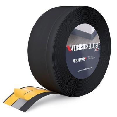 Popruh PVC 5 MB 70x20 Black s lepidlom